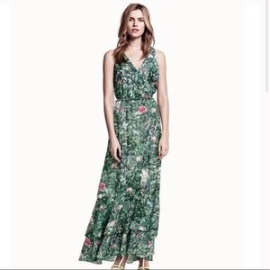 H&M Conscious Collection green floral maxi dress 4